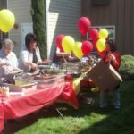 The hotdog buffet was a big hit at the Wiser Home Care Services car show.