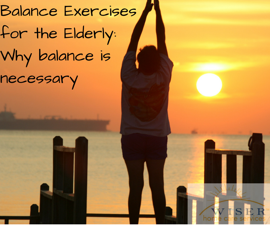 Balance exercises are an important aspect of every elderly fitness routine. Increasing balance will lower a loved ones risk of a fall and resulting injury.
