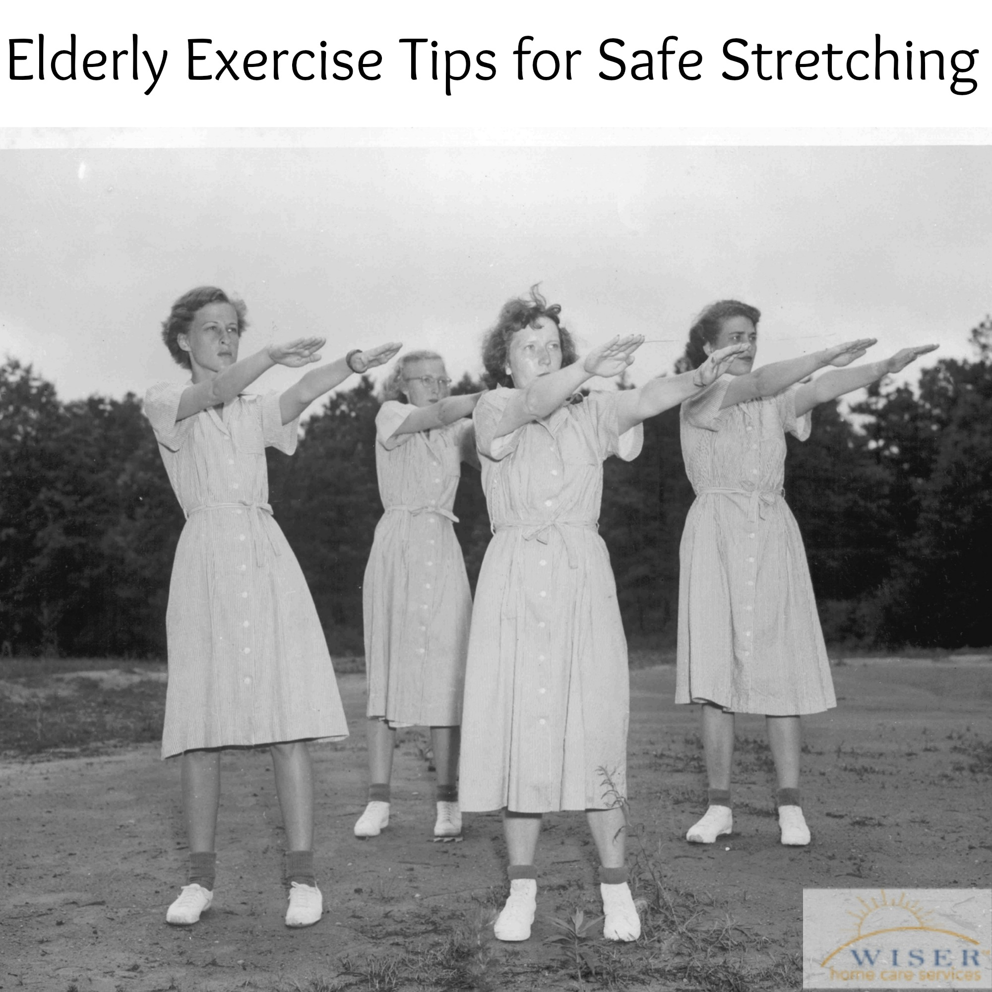 Tips and information on the importance of exercise for elderly loved ones, focusing on stretching as a means for increasing and maintaining mobility.