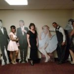 Wiser Home Care Services staff posing next to their dates at the annual Senior Prom.